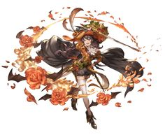 View an image titled 'Halloween Ange, Battle Art' in our Granblue Fantasy art gallery featuring official character designs, concept art, and promo pictures. Game Character Design, Character Design References, Character Concept, Character Art, Concept Art, Fantasy Anime, Fantasy Kunst, Fantasy Girl, Art And Illustration