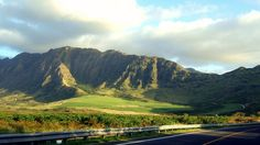 Waianae Ridge, as seen from  Farrington Highway, West Oahu in Hawaii. #RoadTrip