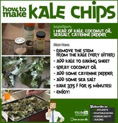 Kale chips ~ time to harvest. I planted Kale in my flower garden :)  Update: 15 minutes is too long. At 10 mins. my kale was getting charred. I also had a batch in the dehydrator. Much better!