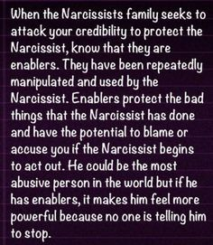 narcissist. enablers
