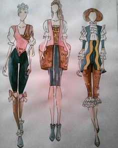 """#fashion #design #fashiondesigner #student #studentasfashiondesigner #hungarian #drawing #painting #illustration #fashionillustration #style #baroque…"""