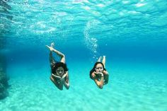 Swimming under the sea! :)