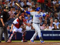 CrowdCam Hot Shot: Los Angeles Dodgers first baseman Adrian Gonzalez hits a 2-run home run against the Atlanta Braves during the third inning of game one of the National League divisional series playoff baseball game at Turner Field. Photo by Daniel Shirey