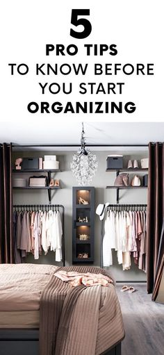 5 Pro Tips to Know Before You Start Organizing.