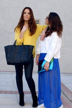 #yellow #shirt #leahterpants #black #purse #myarmyofclothes #streetstyle #fashion  http://myarmyofclothes.blogspot.com.es