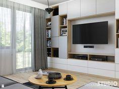 jasnoszary salon-drewniane akcenty - zdjęcie od MIKOŁAJSKAstudio - Salon - Styl Skandynawski - MIKOŁAJSKAstudio