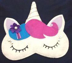 Máscara de dormir de unicórnio  - feltro