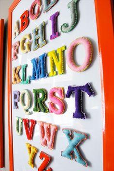 magnetic felt alphabet...great gift idea for my niece