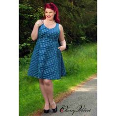 PRE-ORDER - Brigitte (Navy Trelliage) $229.00 http://www.curvyclothing.com.au/index.php?route=product/product&path=95_151&product_id=10496