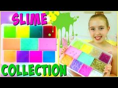 SLIME COLLECTION 2017 - Slime Haul and DIY Slime Storage Ideas - YouTube
