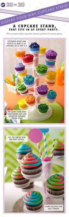 A customizable cupcake stand that fits in at every party.