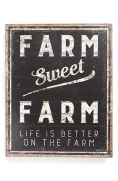 Primitives by Kathy 'Farm Sweet Farm' Box Sign