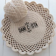 Pattern crochet coasters, Coffee Time Doily, Tea time Crochet Doilies, crochet rug pattern, hygge home decor (tutorial PDF file) Crochet Rug Patterns, Crochet Doily Patterns, Crochet Borders, Crochet Doilies, Crochet Flowers, Doily Rug, Crochet Round, Crochet Home, Hand Crochet