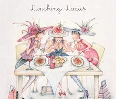 illustration ladies who lunch Art Fantaisiste, Art Mignon, Art Carte, Ladies Who Lunch, Crazy Friends, Friends Family, Art Impressions, Jolie Photo, Illustrations