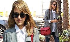 Jessica Alba blends masculine styling to look impossibly chic in West Hollywood | Daily Mail Online