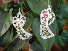 Schwebe-Engel 2015 - Entwurf von Kathrin Schröder, Erzgebirge Bobbin Lace Patterns, Lacemaking, String Art, Crochet Earrings, Christmas Decorations, Xmas, Holiday, Handmade, Jewelry
