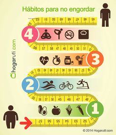 Hábitos saludables para no engordar