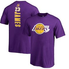 a7d3b7f47876 LeBron James Los Angeles Lakers Fanatics Branded Youth Backer Name   Number  II T-Shirt – Purple