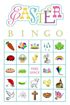 Easter Picture Bingo Game Cards 200 cards 2 per by JovinCreations Free Bingo Cards, Game Cards, Card Games, Christmas Bingo Cards, Fun Christmas Party Games, Bingo Pictures, Easter Bingo, Easter Pictures, Bingo Games