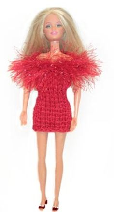 Irie is getting a barbie house from santa and barbies from her aunt.  Matt and Kristin want homemade/ecofriendly/non cheep made in china shit.  This looks like a very easy and cute dress I can make for Iries new barbies. and I already have yarn that'll be perfect for it.