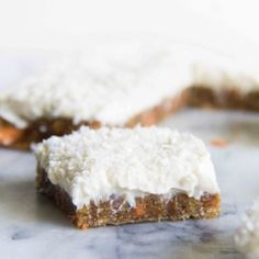 No-Bake Carrot Cake Cream Cheese Bars