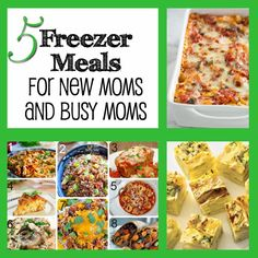 Freezer Meals for new moms and busy moms