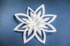 Snowflake paper. #origami #snowflake