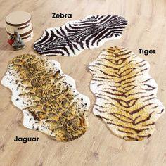 Animal Print Faux Fur Rug