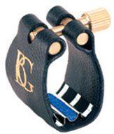 BG Revelation Silver Jazz Ligature for ebonite alto mouthpieces (silver/blue support)