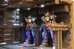 Gundam Z Diorama: RG 1/144 Gundam Mk-II & Zeta Gundam   Modeled by Spur工房
