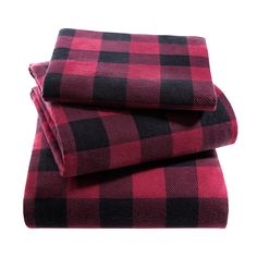 Woolrich Cotton Flannel Sheet Set - Overstock™ Shopping - Great Deals on Woolrich Sheets  Queen red plaid - $59.99