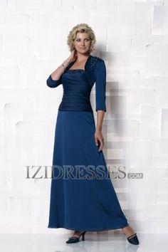 Sheath/Column Straps Chiffon Mother of the Bride Dress - IZIDRESSES.COM at IZIDRESSES.com