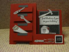 Tool Box Step Card - great looking card for the handyman