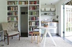 "Provided by Remodelista - more ""built-in"" bookcases - use IKEA?"
