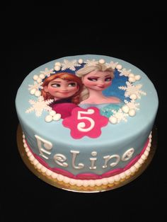 Frozen (Anna en Elsa) taart