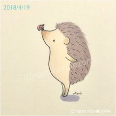 Photos and Videos Hedgehog Tattoo, Hedgehog Drawing, Hedgehog Art, Cute Hedgehog, Cute Sketches, Cute Drawings, Hedgehog Illustration, Illustration Art, Embroidery Motifs