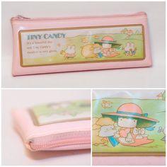 Vintage 80s Girl Pink Tiny Candy pencil case Sanrio Victoria Fancy Gakken Pastel Kawaii