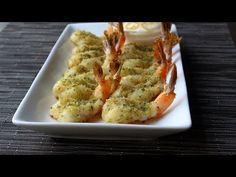 Good video showing how to butterfly shrimp and remove veins.  Prawn Provencale - Baked Garlic and Herb Shrimp Appetizer - YouTube
