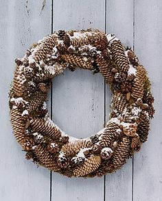 "I like the ""tightness"" of the pinecones on this wreath"