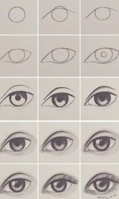 Ideas drawing lips step by step sketches eye tutorial for 2019 Eye Drawing Tutorials, Drawing Tips, Drawing Reference, Drawing Sketches, Drawing Lessons, Easy Eye Drawing, Drawing Tutorials For Beginners, Drawing Drawing, Pose Reference