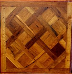 parquetry | Traditional French Versailles parquet floor panel made from old oak.