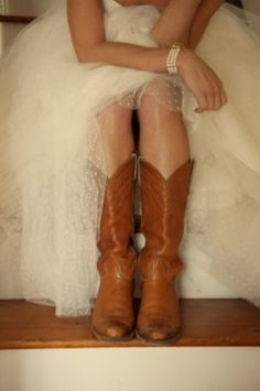 Cowboy Boots with your Wedding Dress!