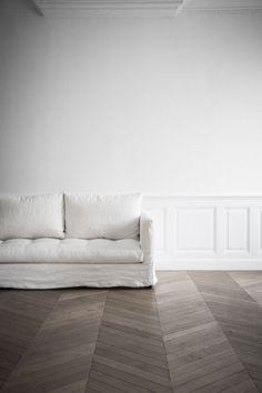 I like the geometric wooden floor