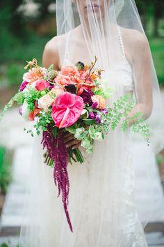 Tropical Glamping Wedding Inspiration with Moody Hues // Ruffled Blog