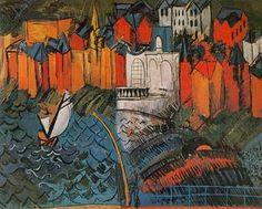 Raoul Dufy - Sailboat at Sainte-Adresse, 1912 - Style: Post-Impressionism Raoul Dufy, Monet, Le Havre, Post Impressionism, Art Prints For Sale, Art Database, Oil Painting Reproductions, Kandinsky, Renoir
