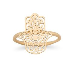 Gold Hamsa Ring @ Salerno's Jewelry Store!