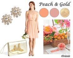 Peach & Gold! Discover more stunning color inspiration at Brideside.com  #orange #peach #wedding #bridesmaids #brideside