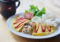 Omurice with 3 taste (Sweet Chicken, Chicken Curry, Beef Blackpepper) only 30IDR free a glass of tea :)