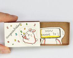 Congratulations You made it Card Matchbox/ Gift box/ Celebration Card/ OT045