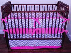 Custom Crib Bedding Abbie  Gray and White by BabyBeddingbyJBD, $267.00
